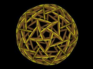 Spherical ensegrity with each element indicative of a value polarity