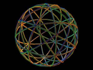 Interlocking cycles indicative of global pathways required to sustain a tensegrity